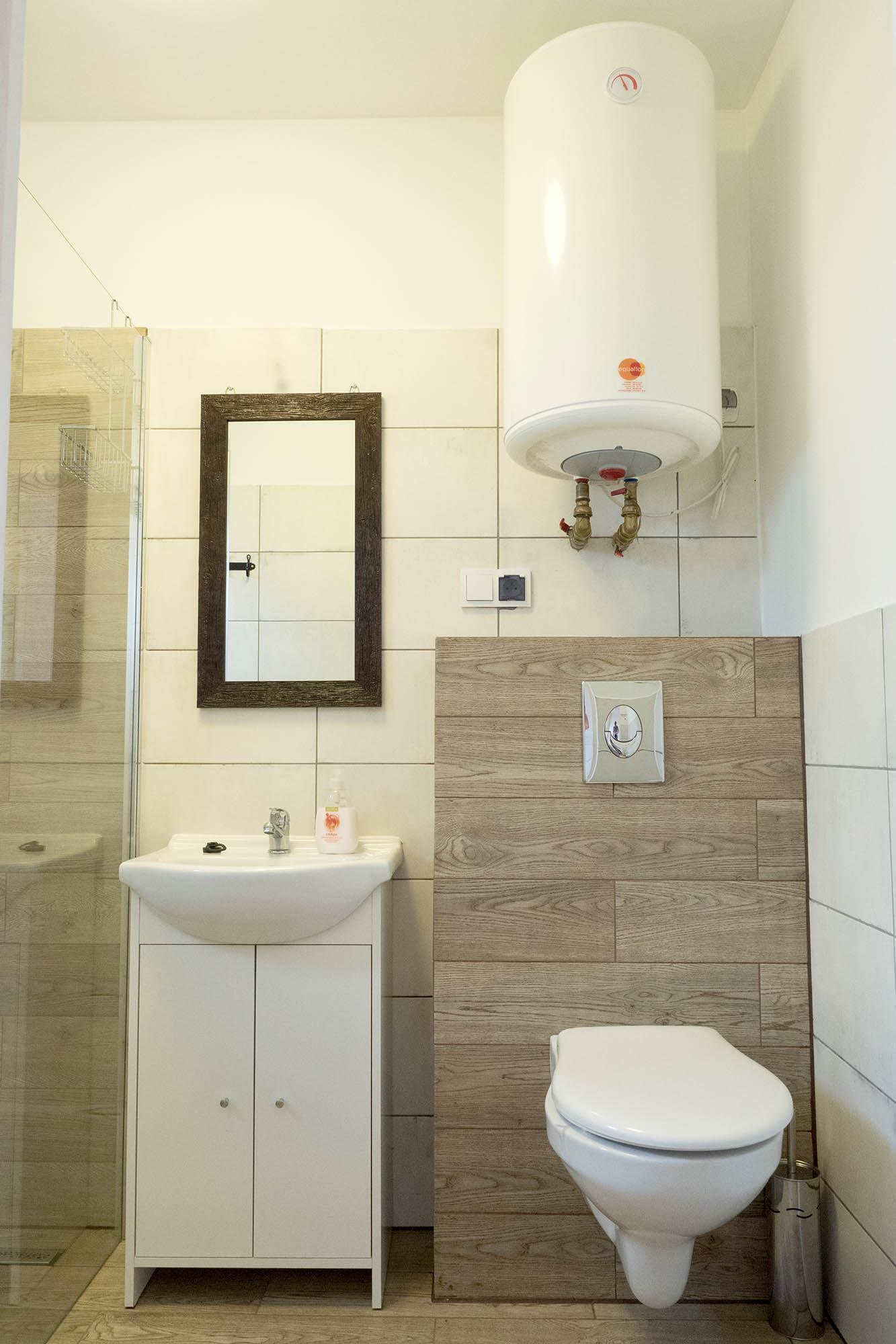 Domki Trebor - łazienka